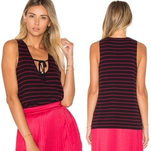 Elizabeth James Cashmere Blend Dahlia Striped Top